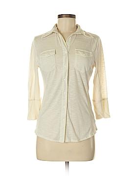 Verve 3/4 Sleeve Button-Down Shirt Size S