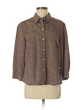 Jamaica Bay 3/4 Sleeve Button-Down Shirt Size M