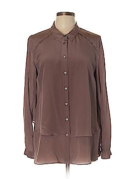 Poetry Long Sleeve Silk Top Size 12