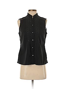 New Balance Sleeveless Button-Down Shirt Size M