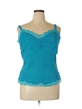 ECI Sleeveless Silk Top Size XL