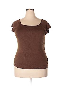 Ann Taylor Factory Short Sleeve Silk Top Size XXL