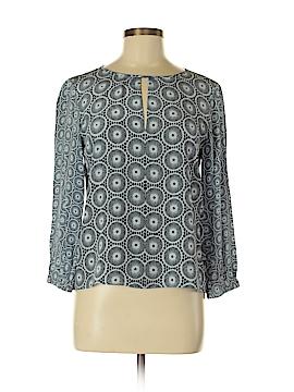 Tibi Long Sleeve Silk Top Size 4