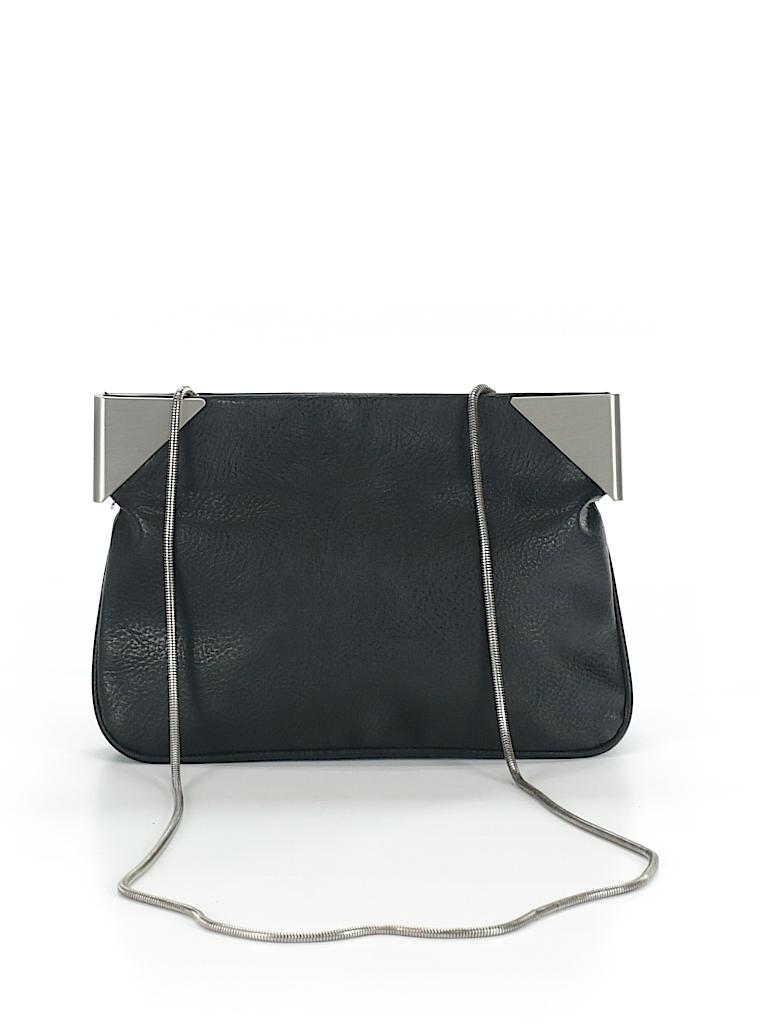 bfe6dfb00ba Zara Basic 100% Leather Solid Black Leather Crossbody Bag One Size ...