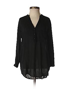 Zara Basic 3/4 Sleeve Button-Down Shirt Size XS