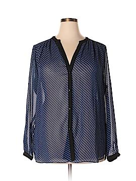 Max Studio Long Sleeve Blouse Size 2X (Plus)