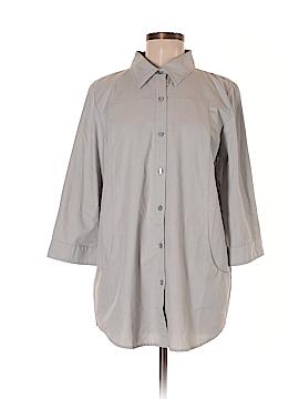 Joan Rivers 3/4 Sleeve Button-Down Shirt Size M