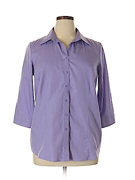 Coldwater Creek 3/4 Sleeve Button-Down Shirt Size XL 16