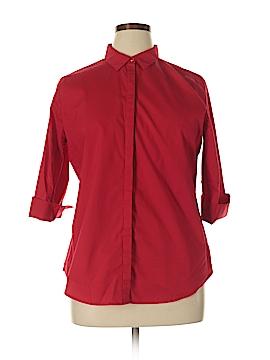 Worthington 3/4 Sleeve Button-Down Shirt Size XL