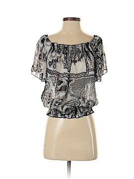 Wrapper Short Sleeve Button-Down Shirt Size XS