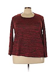 BB Dakota Women Long Sleeve Top Size 1X (Plus)