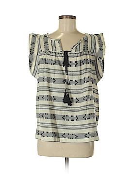 Ann Taylor LOFT Short Sleeve Blouse Size L (Petite)