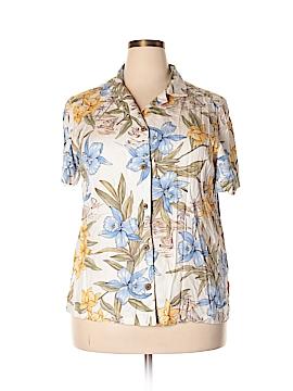 La Cabana Short Sleeve Blouse Size 1X (Plus)