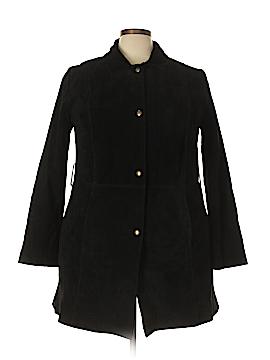 Roaman's Leather Jacket Size 22 (Plus)