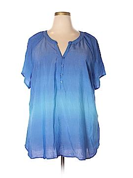 Kim Rogers Short Sleeve Blouse Size 3X (Plus)