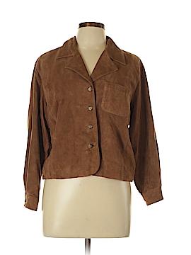 Liz Claiborne Leather Jacket Size 12 (Petite)