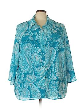 White Stag 3/4 Sleeve Button-Down Shirt Size 26/28 (Plus)