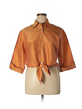 Debra deRoo 3/4 Sleeve Silk Top Size L