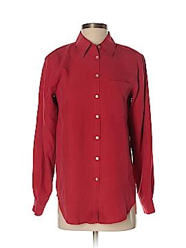 Allison Taylor Long Sleeve Silk Top Size S