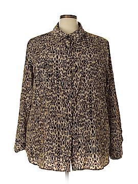 George Long Sleeve Blouse Size 3X (Plus)