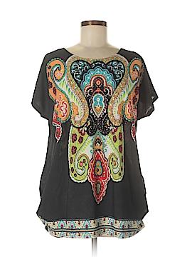 Julia Short Sleeve Silk Top Size M