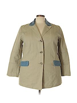 Denim & Co Coat Size 1X (Plus)