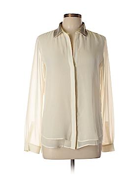 Zara W&B Collection Long Sleeve Blouse Size M