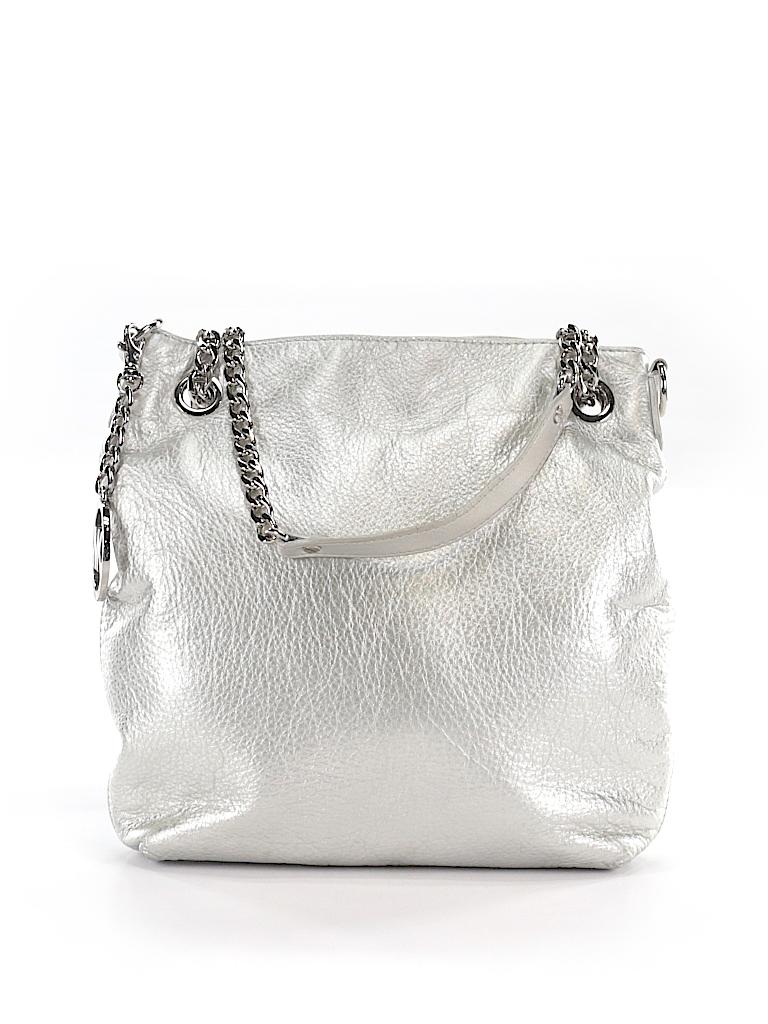 3a5c4ef570919 MICHAEL Michael Kors Solid Silver Shoulder Bag One Size - 70% off ...