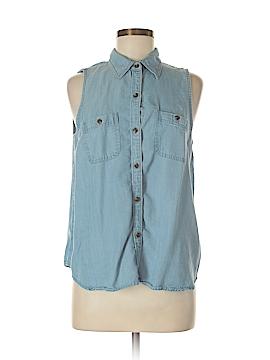 Chaps Sleeveless Button-Down Shirt Size M