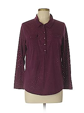 Eddie Bauer Long Sleeve Button-Down Shirt Size L (Petite)