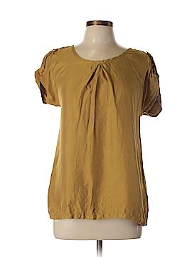 Burberry Brit Short Sleeve Silk Top Size M