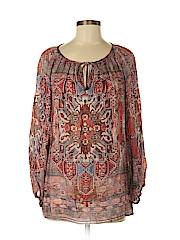 Zara Basic Women Long Sleeve Blouse Size S