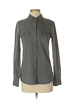 Adriano Goldschmied Long Sleeve Button-Down Shirt Size XS