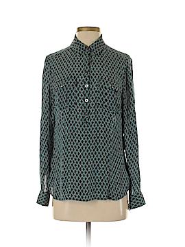 White House Black Market Long Sleeve Silk Top Size 8