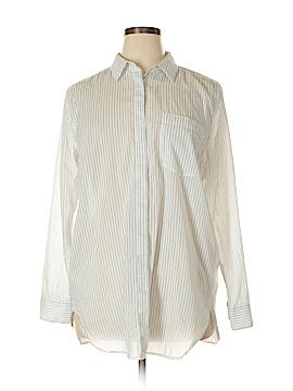 Ann Taylor Long Sleeve Button-Down Shirt Size XL