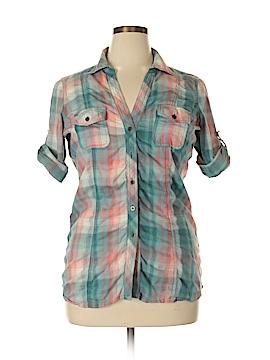 Maurices Short Sleeve Button-Down Shirt Size XL