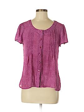 Jaclyn Smith Short Sleeve Blouse Size S