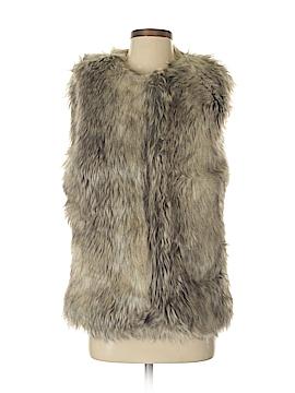 Tinsel Denim Couture Faux Fur Vest Size M