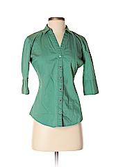 New York & Company Women 3/4 Sleeve Button-Down Shirt Size XS