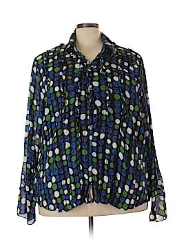 Sunny Leigh Long Sleeve Blouse Size 3X (Plus)